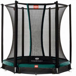inground talent green trampoline berg safety net comfort