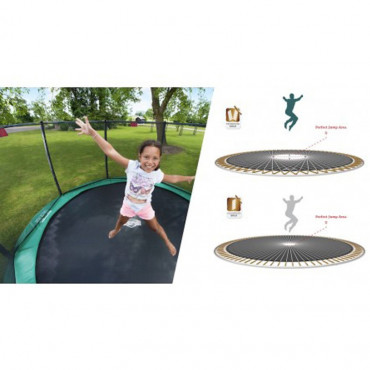 gamme de trampoline safety net deluxe elite green - elymea