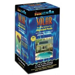 Capteur solaire piscine enterré