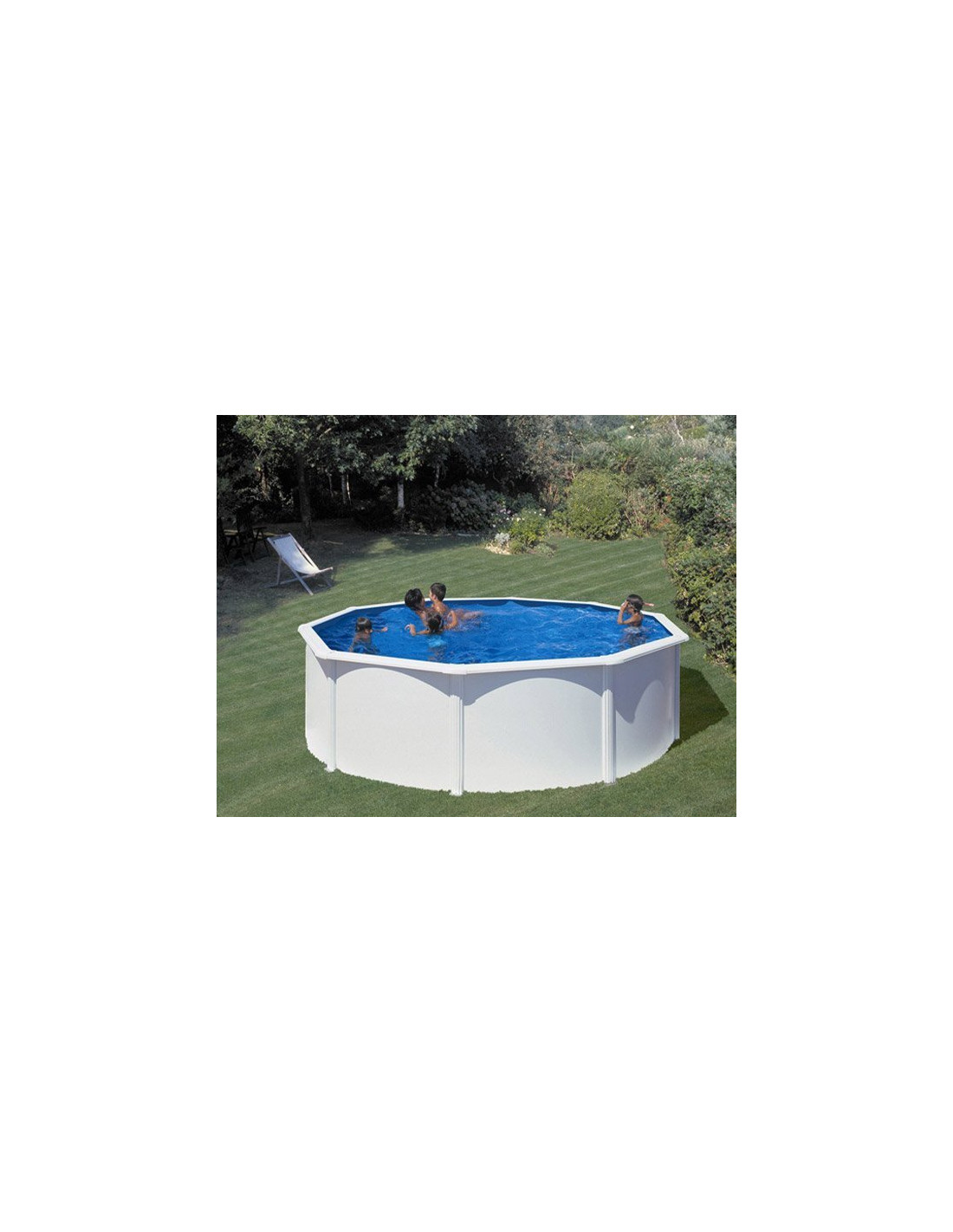 piscine hors sol ronde en acier mod le fidji. Black Bedroom Furniture Sets. Home Design Ideas